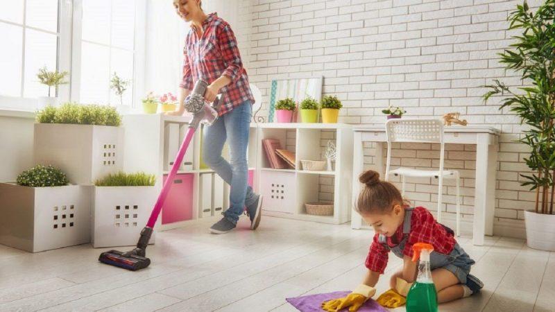 la limpieza del hogar